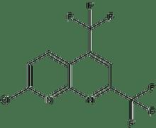 7-chloro-2,4-bis(trifluoromethyl)[1,8]naphthyridine 500 mg