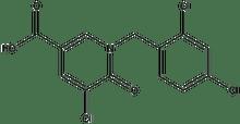 5-chloro-1-(2,4-dichlorobenzyl)-6-oxo-1,6-dihydro-3-pyridinecarboxylic acid 500 mg