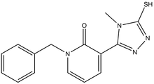 1-benzyl-3-(4-methyl-5-sulfanyl-4H-1,2,4-triazol-3-yl)-2(1H)-pyridinone 500 mg
