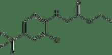 ethyl 2-{[3-chloro-5-(trifluoromethyl)-2-pyridinyl]amino}acetate 500 mg