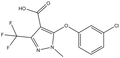 5-(3-chlorophenoxy)-1-methyl-3-(trifluoromethyl)-1H-pyrazole-4-carboxylic acid 500 mg