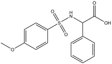 2-{[(4-methoxyphenyl)sulfonyl]amino}-2-phenylacetic acid 500 mg