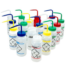 Labeled Lab Wash Bottles
