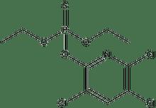 O,O-Diethyl O-3,5,6-trichloro-2-pyridyl phosphorothioate 1g