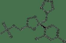 cis-2-(2,4-Dichlorophenyl)-2-(1H-1,2,4-triazol-1-ylmethyl)-1,3-dioxolane-4-methanol methanesulfonate 5g