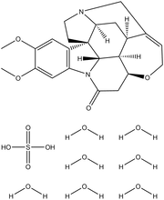Brucine sulfate heptahydrate 25g