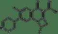 6-Fluoro-1-methyl-4-oxo-7-(1-piperazinyl)-4H-(1,3)thiazeto(3,2-a)quinoline-3-carboxylic acid 100mg