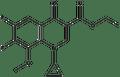 1-Cyclopropyl-6,7-difluoro-1,4-dihydro-8-methoxy-4-oxo-3-quinolinecarboxylic acid ethyl ester 1g