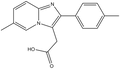 6-Methyl-2-(4-methylphenyl)imidazol[1,2-a]-pyridine-3-acetic acid 1g