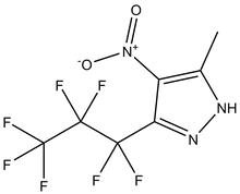 3-Heptafluoropropyl-5-methyl-4-nitropyrazole 1g