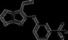 6-[3-(Trifluoromethyl)phenylthio]imidazo[2,1-b]-thiazole-5-carboxaldehyde 500mg