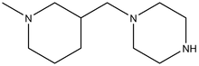 1-(N-Methylpiperidin-3-yl-methyl)piperazine 1g