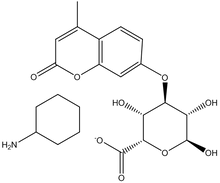 4-Methylumbelliferyl-α-L-iduronic acid, cyclohexylammonium salt