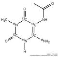 5-Acetylamino-6-amino-3-methyluracil-[13C4,15N3] (AAMU) 1mg