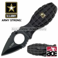 Black Grenade Handle US Army Spring Assisted Opening Pocket Knife