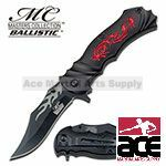Black Fantasy Dragon Assisted Opening Pocket Knife