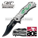 Grey Fantasy Dragon Assisted Opening Pocket Knife