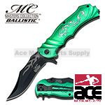 Green Fantasy Dragon Assisted Opening Pocket Knife