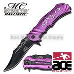 Purple Fantasy Dragon Assisted Opening Pocket Knife