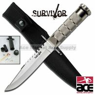 "8.5"" Tactical Combat Fishing Hunting Knife w/ Sheath Bowie Survival Kit  Camping"