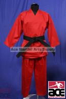 12oz HEAVY Weights KARATE MARTIAL ARTS UNIFORM GI Red