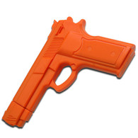 "7"" Orange RUBBER TRAINING GUN Police Dummy Non Firing Real Look and Feel"