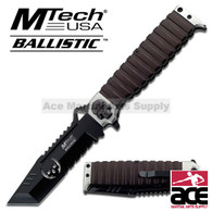 """MTECH BALLISTIC MT-A820S 9.5"""" TANTO GREEN SKULL SPRING ASSISTED FOLDING KNIFE"""