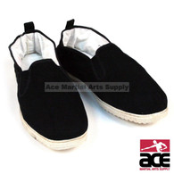 These Cotton Sole Kung Fu shoes are designed for indoor training. These shoes feature a black canvas construction with a reinforced cotton sole. The cotton sole provides you with easier mobility indoors to prevent the restriction of movement. These shoes are comfortable and durable enough for the most rigorous Kung Fu training.