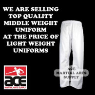 Martial Arts Karate Pants (Karate and Taekwondo), White