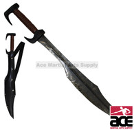 300 Spartan Hand Forged Black Antique Finish Carbon Steel Movie Replica Sword