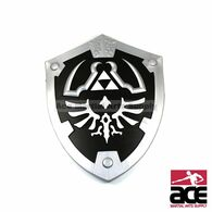 "Black Zelda Master Foam Shield for Cosplay and Larp 22"" x 17"""