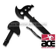 """8"""" Hunting Throwing Axe with Sheath and Cord Wrapped Handle"""