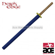 "Foam padded training sword. Made with a wood core and blue outer foam padding. 36"" total length."