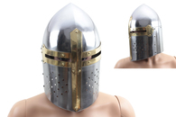Medieval Crusader Great Helm Knight Armor Helmet Larp