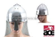 Medieval Saxon Nasal Helm Knight Helmet Chain Mail