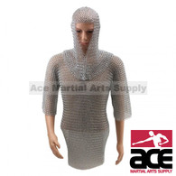Chain Mail Haulberk Long Shirt Knight Armor SCA LARP