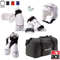 Deluxe Macho Dyna Sparring Gear Set with FREE BAG