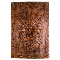 Roman Inspired Shield With Handle And Wall Mount