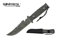 """11"""" Hunting Tactical Knife Serrated Blade with Sheath - H4840CM"""