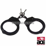 Professional Handcuffs Black Steel Police Duty Double Lock w/Keys NEW
