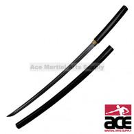 "40"" Total length. Carbon steel blade. Wood saya and handle with black finish. Includes katana storing bag."