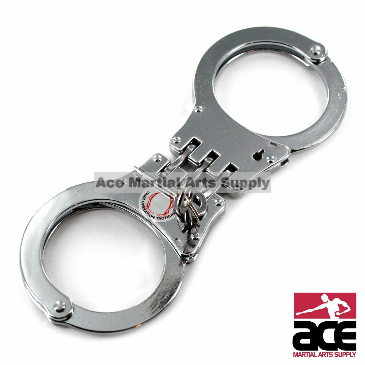 Police Edition Professional Grade Heavy Duty Steel W//Two Keys Foxfend Double Locked Hinged Handcuffs