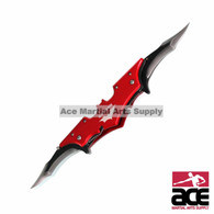WarTech USA Batman Knife with Dual Assist Open Blades-Red