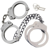 COMBO Set Handcuffs Hand & Leg Cuffs Irons Silver Double Locking + CASE + 4 Keys