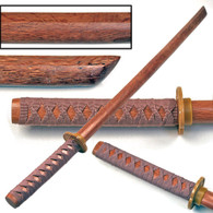 "Single 40"" Hardwood Datio Bokken Kendo Practice Sword-Beige Cord Wrap"