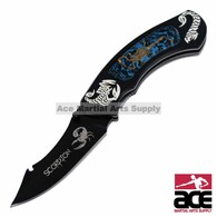 "8"" Cobalt Scorpion Folding Knife"