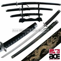 3 pieces Engraved Dragon Sword Set