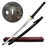 Masahiro Hand Forged Katana - Black - 44 Inches