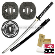Build a Katana - Battle Ready Full Tang Sword Assembly Kit - Black
