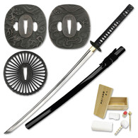 Build a Katana - Battle Ready Full Tang Sword Assembly Kit - Black